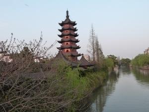 Abendstimmung am Wasserdorf Sijing
