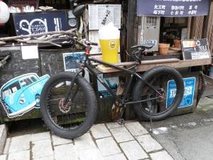 Witziges Fahrrad in Shimoda