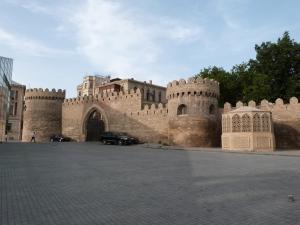 Blick auf die Altstadt von Baku
