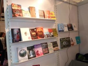 Bücher der BVjA-Mitglieder am Messestand