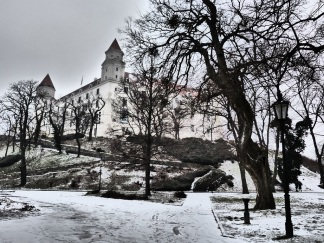 Die Burg verfremdet