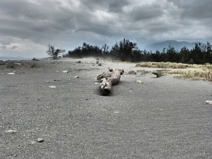 Der Strand verfremdet