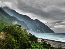 Strand bei Qing Shui verfremdet