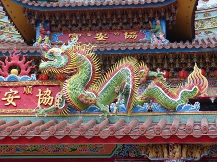 Drachendetail am Tempel
