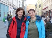 Mit meiner Freundin Susanne in Moskau
