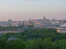 Blick auf Moskau von den Sperlingsbergen