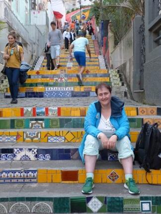 """Auf der """"Kacheltreppe"""" in Santa Teresa"""