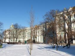Der Winterpalast des Zaren beherbergt heute die Eremitage, eines der bedeutendsten Museen der Welt.