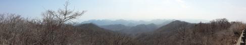 Panorama vom Usui-Paß aus gesehen