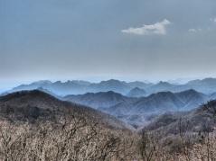 Bergpanorama vom Usui-Paß gesehen