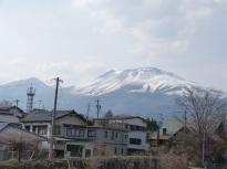 Blick auf den Asama von Karuizawa aus